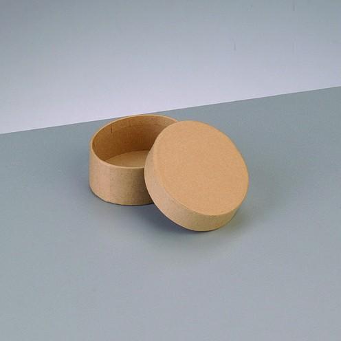 Box Oval, aus Pappmaché, 6,5 x 5,5 x 2,7 cm
