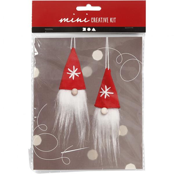 Mini-Kreativ-Set, Weihnachtswichtel Zum Aufhängen, 11 cm, 2 Stck