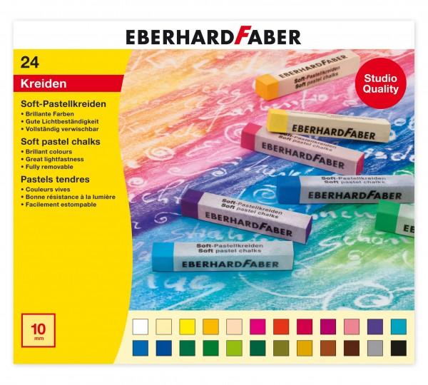 EBERHARD FABER Soft-Pastellkreide, 24 Farben im Kartonetui