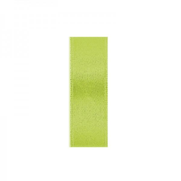 Satinband, doppelseitig, Länge 5 m, Breite 15 mm, hellgrün
