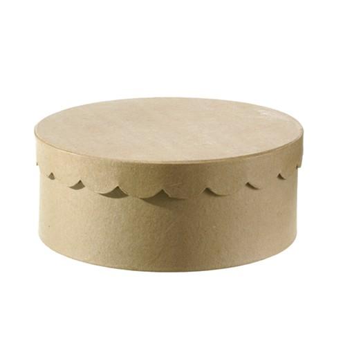 Box Torte Rund Aus Pappmache 25 X 10 Cm