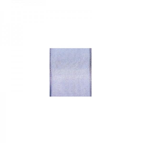 Chiffonband mit Drahtkante, 40mm breit, 5m lang - flieder
