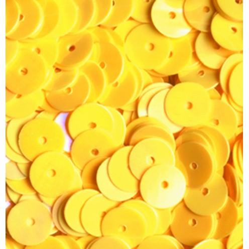 Pailletten, rund, flach, 6 mm, 4000 St, gelb