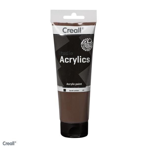 Creall-studio Acrylfarbe, 250 ml, Umbra gebrannt