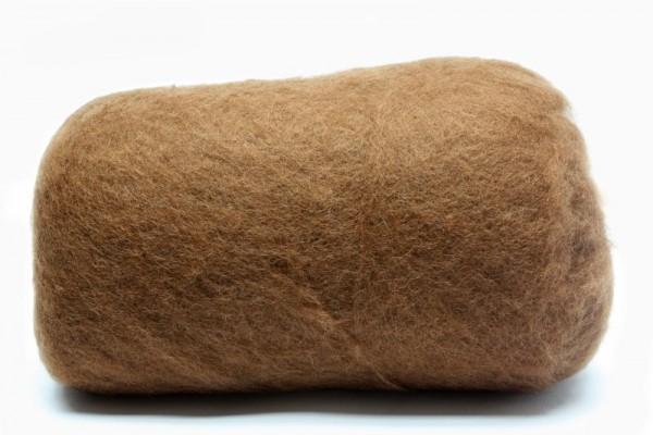 Merino-Filzwolle, im Vlies, 50 g, Kokosnussbraun