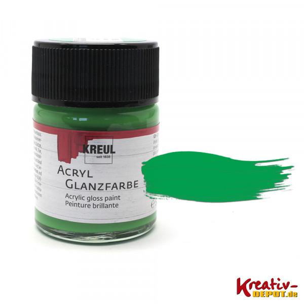 Kreul Acryl-Glanzfarbe, 50 ml, Grün