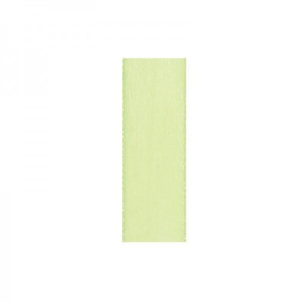 Chiffonband, 10mm breit, 10m lang - hellgrün