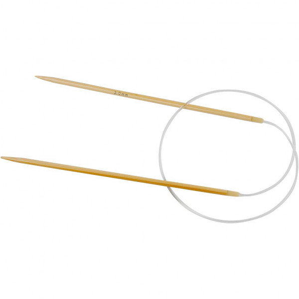 Rundstricknadel, aus Bambus, 3mm - 60cm