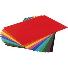 Bastelkarton, 10er Pack, 220 g/m², 50x70 cm, 10 Farben sortiert