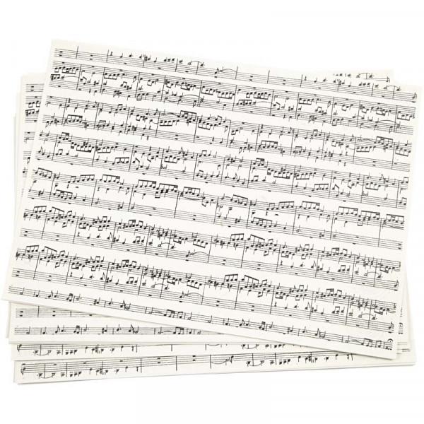 Kraftpapier, A4, 100g, Musiknoten, 10 Blatt