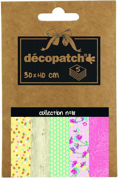 Decopatch Pocket Papier, 5er Sortiment, Collection No 18