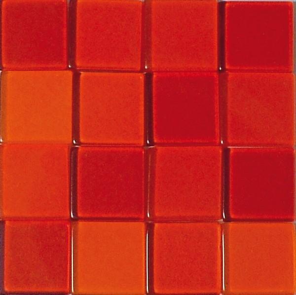 Mosaic Acryl, 1 x 1 cm, ca. 50 g, transparent, klassikrot