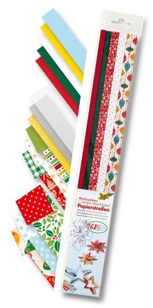 Quilling Papierstreifen Weihnachten, 1-2 cm x 50 cm, 168 Stück