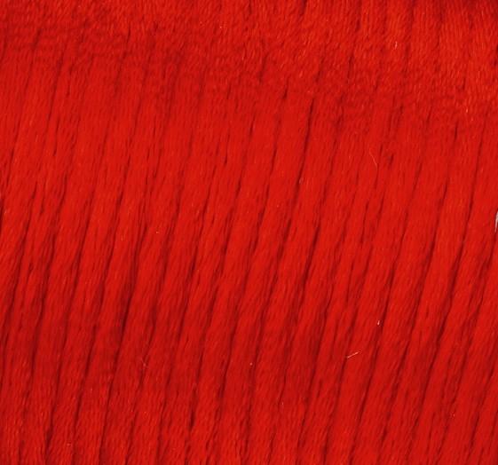Satin Flechtkordel, Länge 6 m, Stärke 2 mm, rot