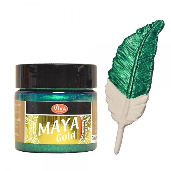 Viva Decor Maya-Gold, 45 ml, Smaragd