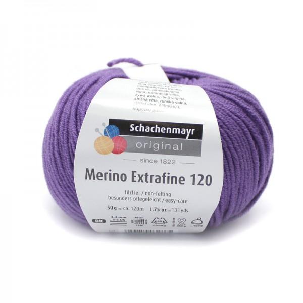 Die Schachenmayr Wolle - Merino Extrafine, violett