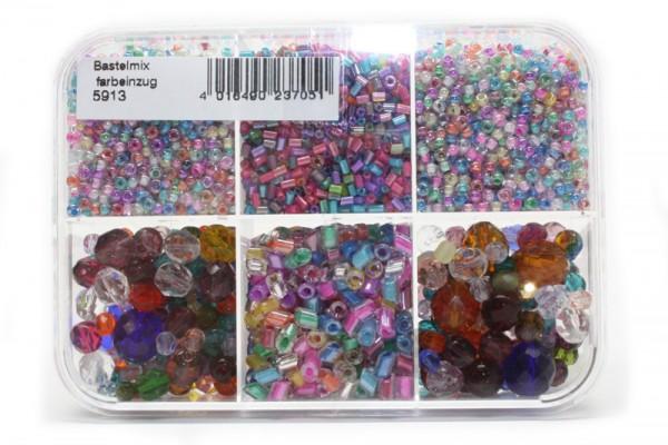 Sortimentsbox Perlen, Farbeinzug