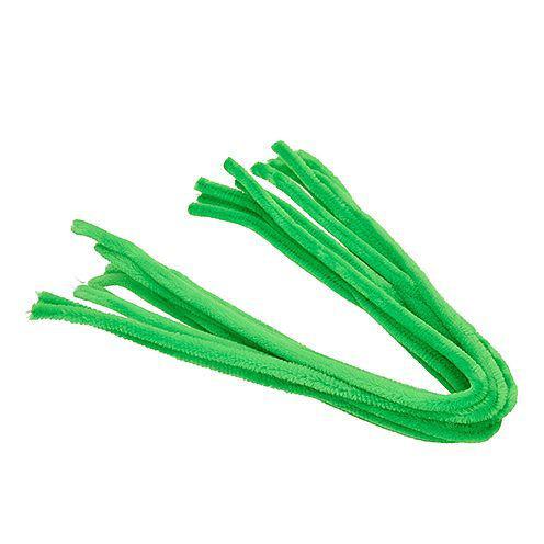 Biegeplüsch-Pfeifenputzer, 50cmx8mm Ø, 10 Stück, hellgrün