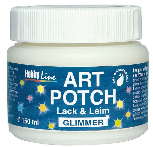 Serviettenkleber ART POTCH Lack & Leim Glimmer, 150ml