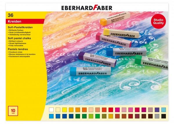 EBERHARD FABER Soft-Pastellkreide, 36 Farben im Kartonetui