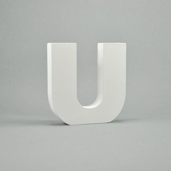 """MDF- Buchstaben """"U"""", weiß"""