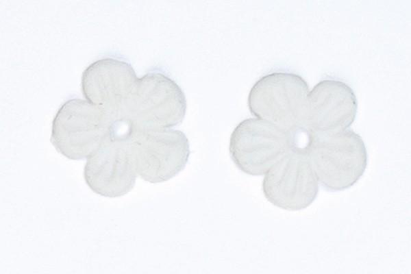 Wachsmotiv Blüten, 1,2 mm, 6 Stück, weiß