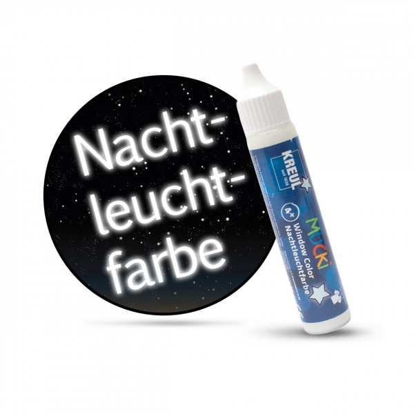 Mucki Window Color Pen, Fenstermalfarbe, 29 ml, Nachtleuchtfarbe