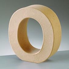 Buchstabe O, 17,5 x 5,5 cm, aus Pappmachè