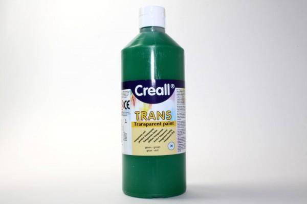 Creall-trans, transparente Farbe, 500 ml, grün