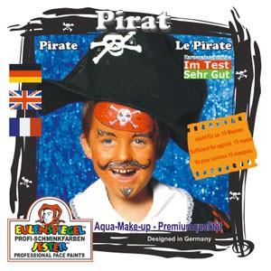 Eulenspiegel Schminkfarbe Motiv-Set Pirat, 4 Farben