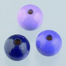 Holzperlen Mix 10mm - lilamix