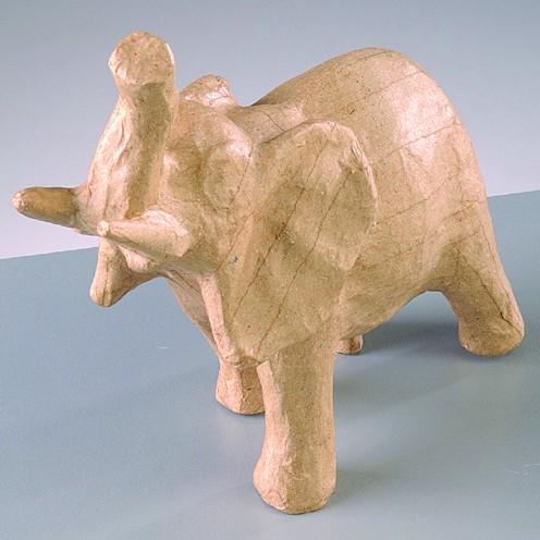 Elefant, aus Pappmachè, 15 x 6,5 x 15 cm