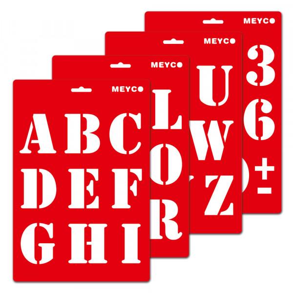 Buchstaben-Schablone ABC Große Druckbuchstaben