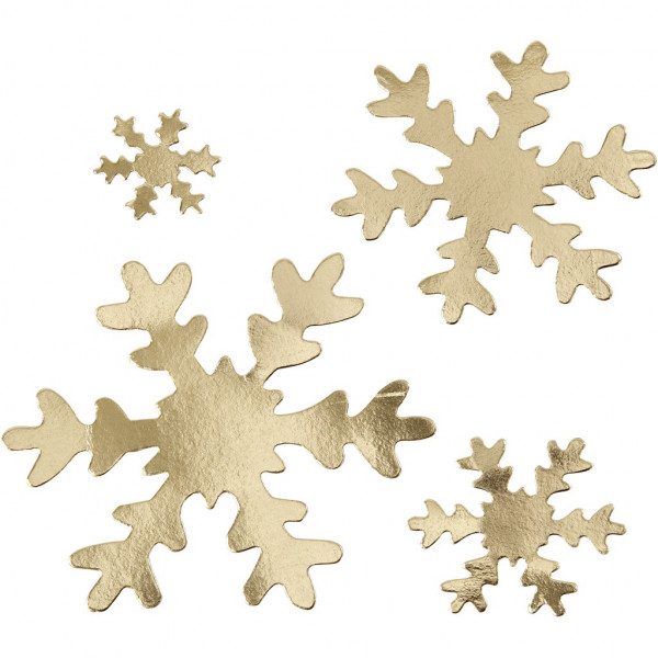 Schneeflocken-Sort. gold, aus Lederpapier