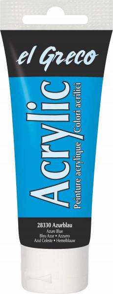Acrylfarbe el Greco Acrylic, 75 ml - Azureblau