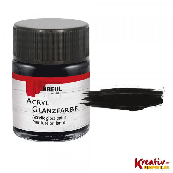 Kreul Acryl-Glanzfarbe, 50 ml, Schwarz