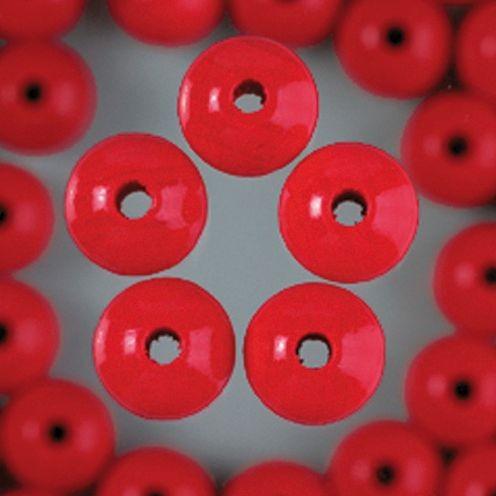 Holzperlen 4mm, 150 Stück - rot