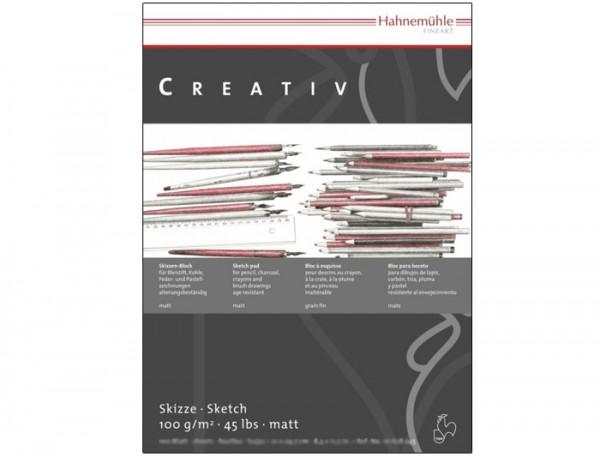 Skizzenpapier Creativ, 100 g/m², DIN A3, 100 Blatt - matt