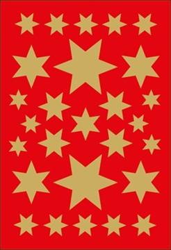 Sticker Sterne, verschiedene Größen, gold