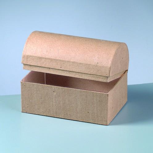 Box Truhe, aus Pappmachè, 15 x 10 x 10,5 cm