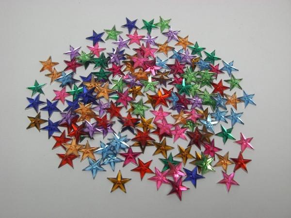 Hobby Line Schmucksteinchen, Sterne, bunt