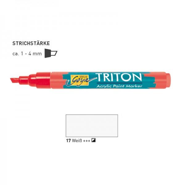 SOLO GOYA TRITON Acrylic Paint Marker 1.4 - Weiß