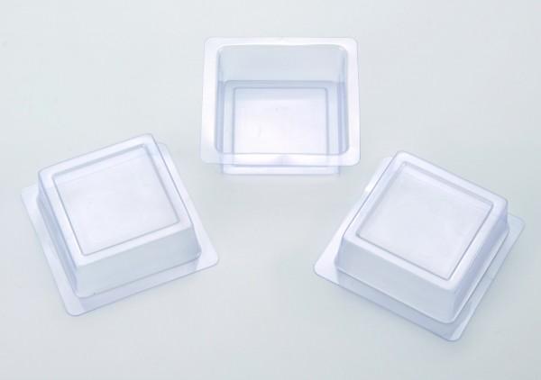 Seifen-Giessform Quadrat, 3 Stück