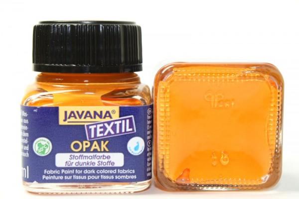 JAVANA TEXTIL Opak, für dunkle Stoffe, 20 ml, Orange