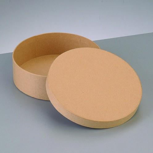 Box Rund, aus Pappmaché, Ø 12,5 x 7 cm