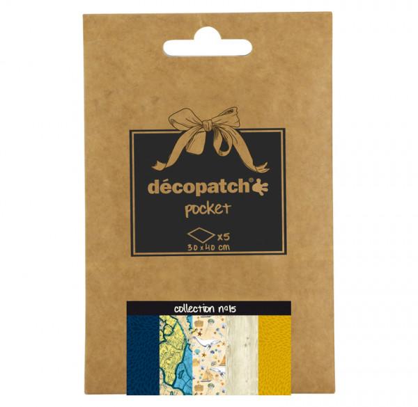 Decopatch Pocket Papier, 5er Sortiment, Collection No 15