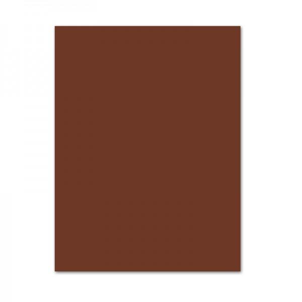 Bastelkarton, 10er Pack, 220 g/m², 50x70 cm, schokobraun