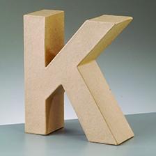 Buchstabe K, 17,5 x 5,5 cm, aus Pappmachè