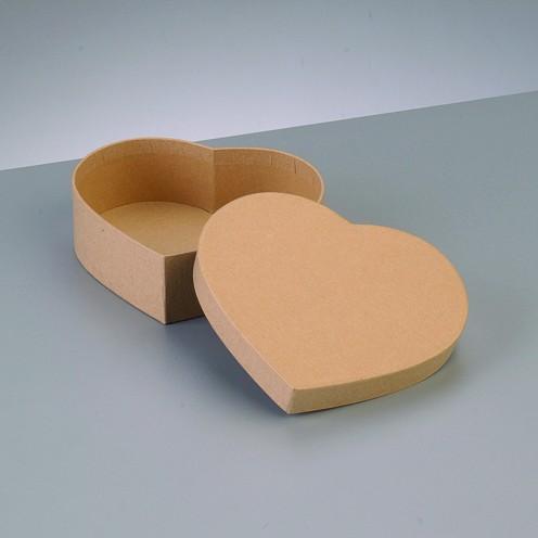 Box Herz, aus Pappmaché, 12,5 x 11 x 7 cm