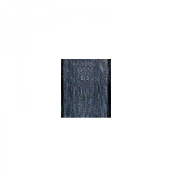Chiffonband mit Drahtkante, 40mm breit, 5m lang - dunkelblau